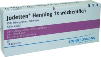 Jodetten Henning 1x wöchentlich 1530 Mikrogramm
