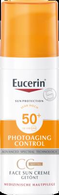 Eucerin Sun Creme Getönt LSF 50+ Mittel