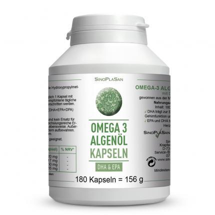 Omega 3 Algenöl Kapseln DHA+EPA