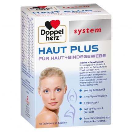 DOPPELHERZ Haut Plus system Tabletten+Kapseln