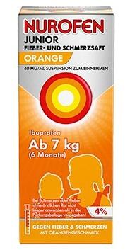 NUROFEN Junior Fieber- & Schmerzsaft Orange 40mg