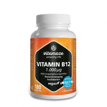 Vitamin B12 1.000 µg Hochdosiert Vegan Tabletten
