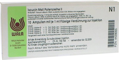 ISCUCIN mali Potenzreihe II Ampullen