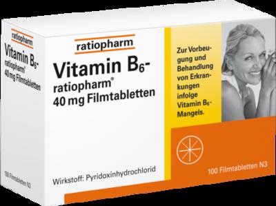VITAMIN B6 ratiopharm 40 mg Filmtabletten