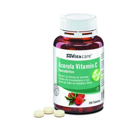 SOVITA care Acerola Vitamin C Kautabletten