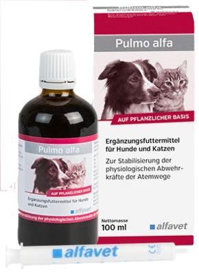 Pulmo alfa Ergänzungsfuttermittel für Hunde und Katzen