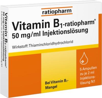 Vitamin B1-ratiopharm 50 mg/ml Injektionslösung Ampullen