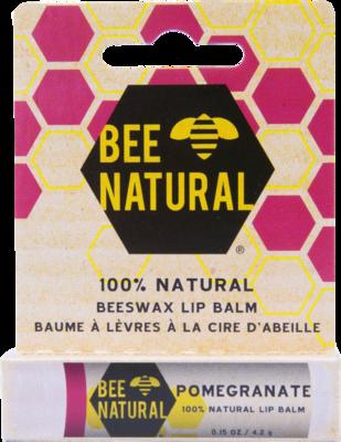 BEE Natural Lippenpflege-Stift Granatapfel