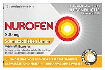 NUROFEN Schmelztabletten Lemon 200mg