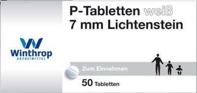 P TABLETTEN weiß 7 mm Teilk.