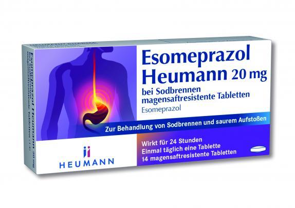 Esomeprazol Heumann 20mg bei Sodbrennen