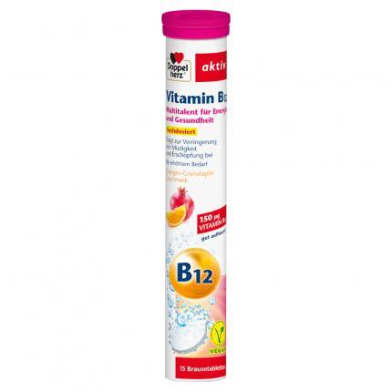 DOPPELHERZ Vitamin B12 Brausetabletten
