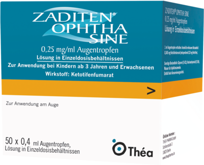 ZADITEN ophtha sine 0,25mg/ml Augentropfen