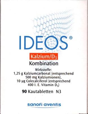 IDEOS Kalzium/D3 500mg/400 I.E.
