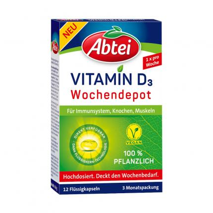Abtei Vitamin D3 Wochendepot pflanzlich