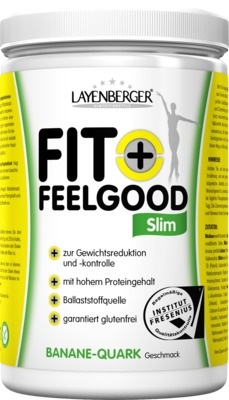 LAYENBERGER FIT+ FEELGOOD Slim BANANE-QUARK Geschmack