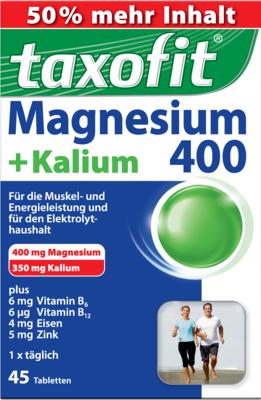 TAXOFIT Magnesium 400+Kalium Tabletten
