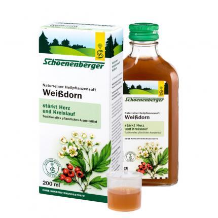 Weißdorn naturreiner Heilpflanzensaft Schoenenberger