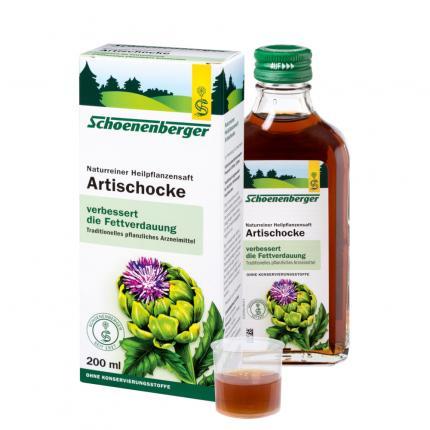 Artischocken naturreiner Heilpflanzensaft Schoenenberger