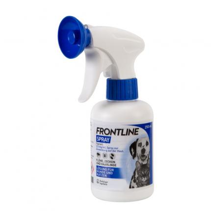 Frontline Spray für Hunde und Katzen gegen Zecken und Flöhe 250ml