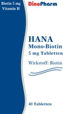 HANA MONO Biotin 5 mg Tabletten