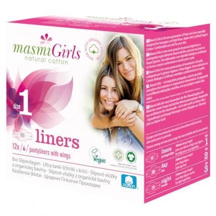 Bio Slipeinlagen Girls 1 Bio Baumwolle Masmi