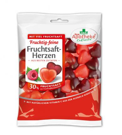 FRUCHTSAFT-Herzen 30% Fruchtsaft apothekenexklusiv