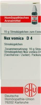 NUX VOMICA D 4 Globuli