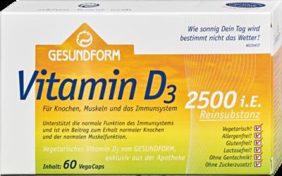 Gesundform Vitamin D3 2.500 I.e. Vega-caps