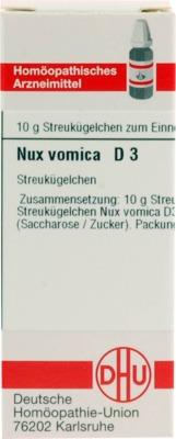 NUX VOMICA D 3 Globuli