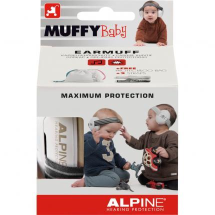 Alpine Muffy Ohrenschützer Baby Schwarz/weiß