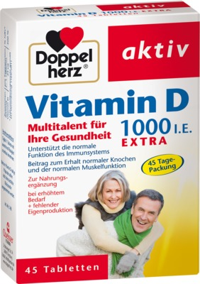 DOPPELHERZ Vitamin D 1.000 I.E. EXTRA Tabletten