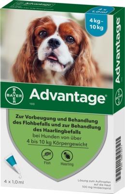 ADVANTAGE 100 Lösung für Hunde 4-10 kg