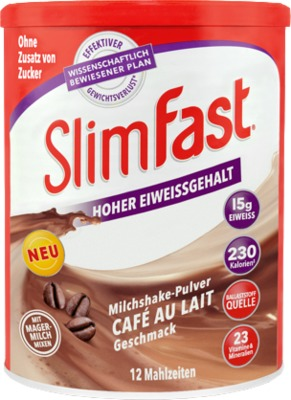 SLIM FAST Pulver Cafe au Lait