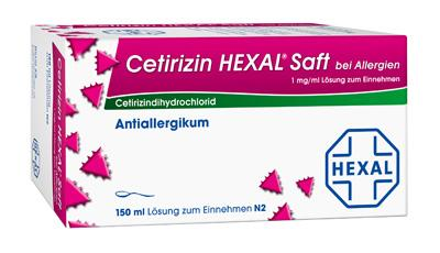 Cetirizin HEXAL Saft bei Allergien 1mg/ml