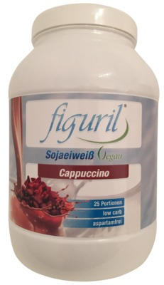 FIGURIL low carb Eiweiß vegan Cappucino Pulver