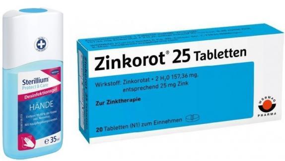 Sterillium Protect & Care 35ml + Zinkorot 25 20 Tabletten Set