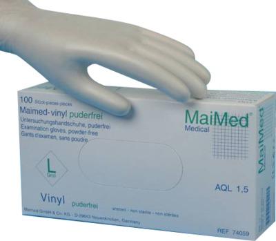 MaiMed vinyl Puderfrei Untersuchungshandschuhe unsteril Größe XL
