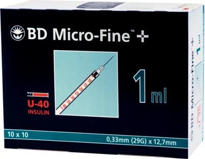 BD Micro-Fine+ Insulinspritze 1ml U40 12,7mm