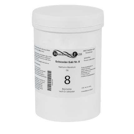 HOMOEOPATHIEFUCHS Schüssler-Salz Nummer 8 Natrium chloratum D6 Biochemie