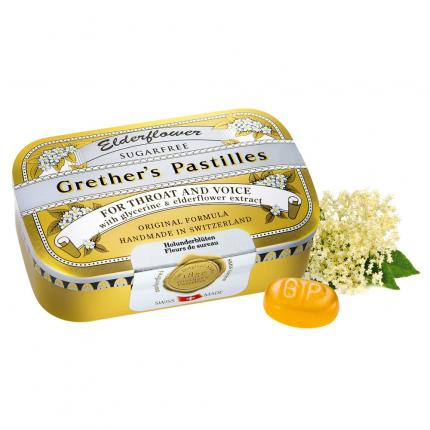 Grethers Elderflower Zuckerfrei Pastillen