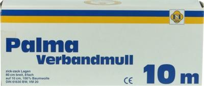 PALMA Verbandmull 80 cm 10 m zickzack Lagen