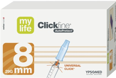 MYLIFE Clickfine AutoProtect Pen-Nadeln 8 mm 29 G