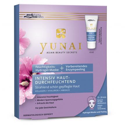 Yunai Feuchtigkeits-Hydrogelmaske +vorbereitendes Enzympeeling