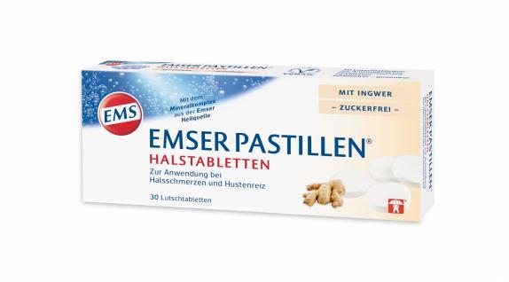 EMSER HALSPASTILLEN Halstabletten mit Ingwer zuckerfrei