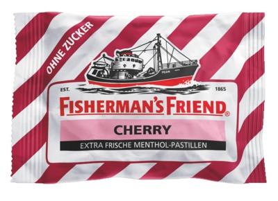 FISHERMANS FRIEND Cherry ohne Zucker Pastillen