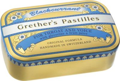 Grether`s Pastilles Blackcurrant zucker haltig Dose
