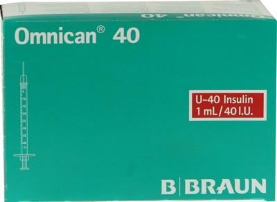 Omnican Insulinspritze 1ml U40 mit Kanüle 0,30x12mm