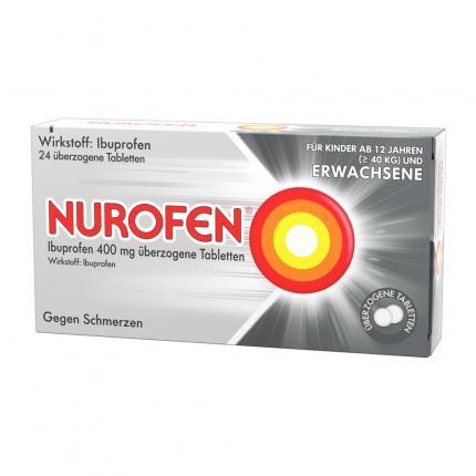NUROFEN Ibuprofen überzogene Tabletten bei Kopfschmerzen 400mg