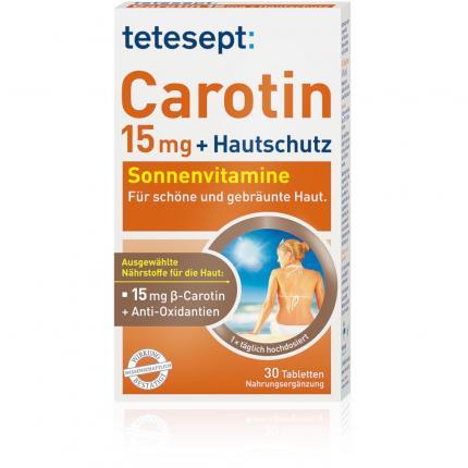 TETESEPT Carotin 15 mg+Hautschutz Filmtabletten